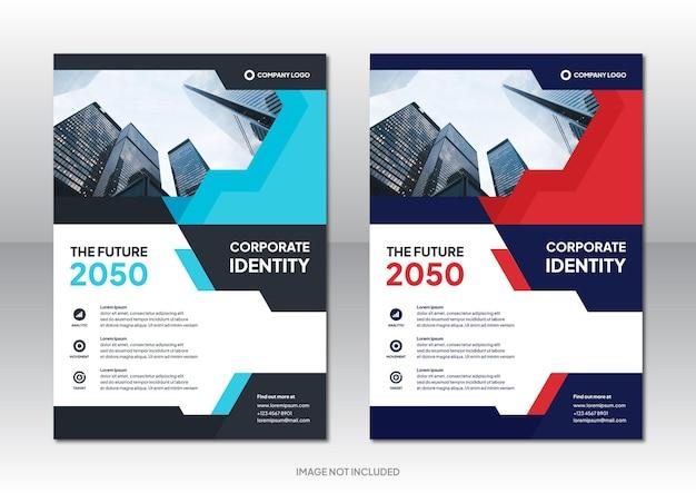 Professionele zakelijke bedrijfsbrochure ontwerp achtergrondsjabloon