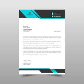Professionele zakelijke briefhoofdsjabloonontwerp moderne briefhoofdidentiteit