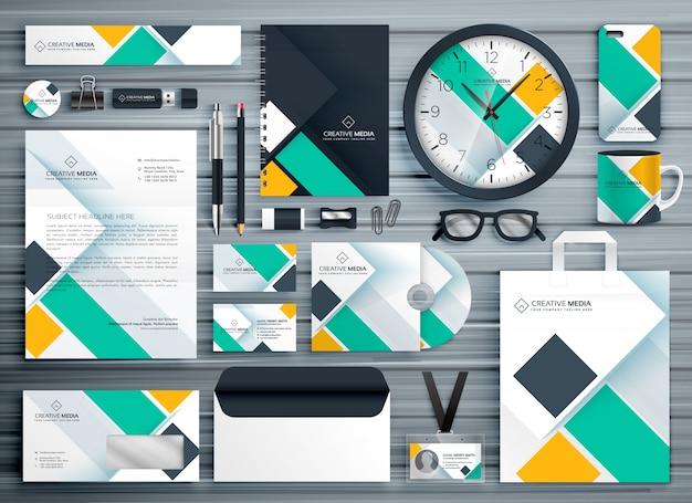 Professionele zakelijke briefpapier sjabloon vector design