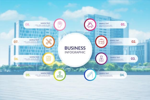 Professionele zaken infographic met foto