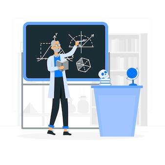 Professor concept illustratie