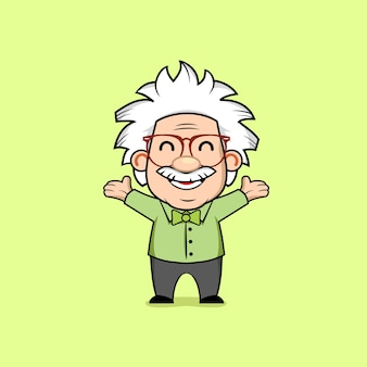 Professor genius mascot karakter