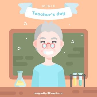 Professor in de wetenschap, gelukkige lerarendag