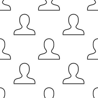 Profiel, vector naadloos patroon, bewerkbaar kan worden gebruikt voor webpagina-achtergronden, opvulpatronen