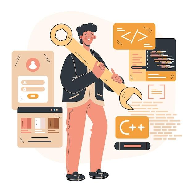 Programma constructie codering ontwikkeling software concept