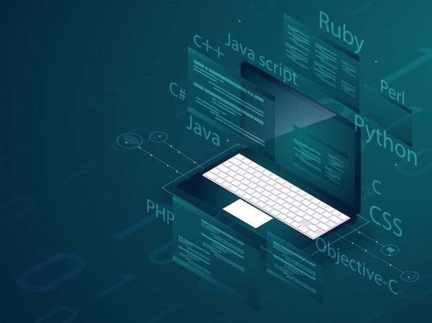 Programmeerconcept.