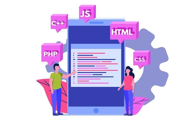 Programmeersoftware of app-ontwikkeling, verwerking van big data.