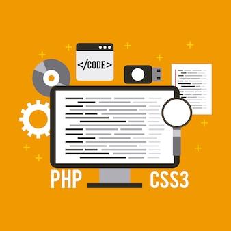 Programmeren en coderen van website-ontwikkeling