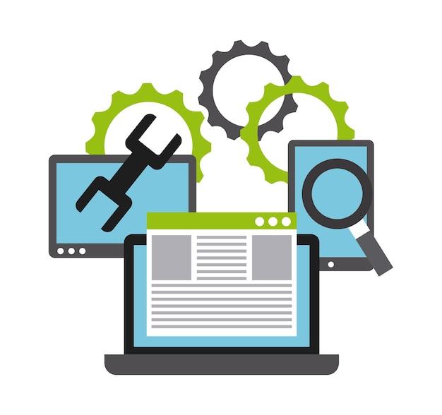 Programmeren van software ontwerp, grafische illustratie eps10