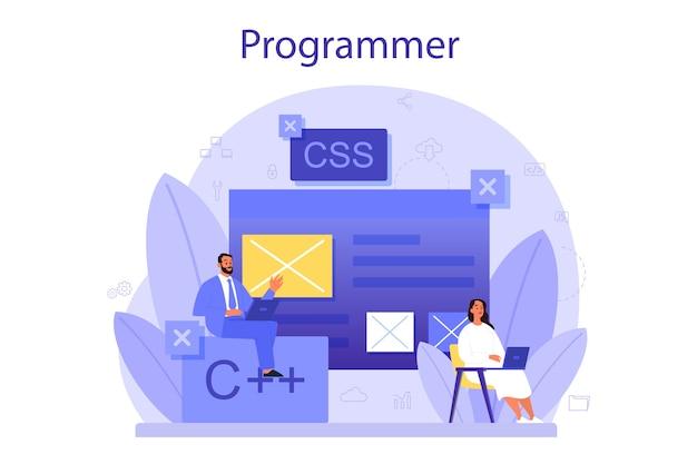 Programmering concept.