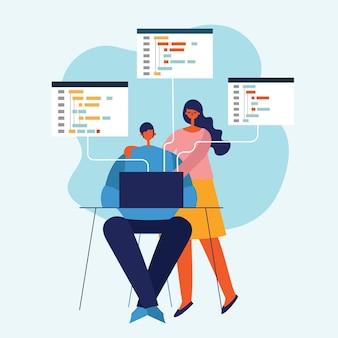 Programmering en codering, website-ontwikkeling, webdesign.