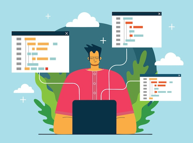 Programmering en codering, website-ontwikkeling