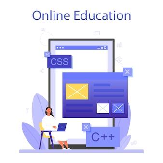 Programmering online service of platform