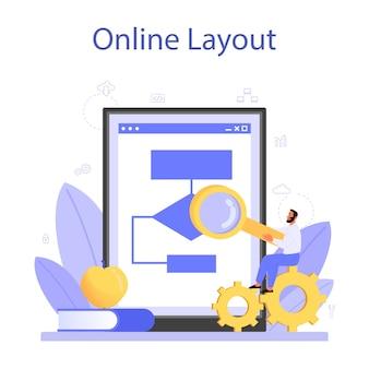 Programmering van online service of platform.