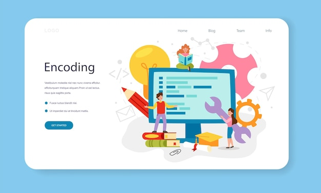 Programmering webbanner of bestemmingspagina. it-opleiding