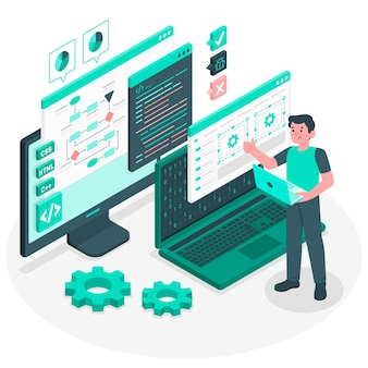 Programmeur concept illustratie