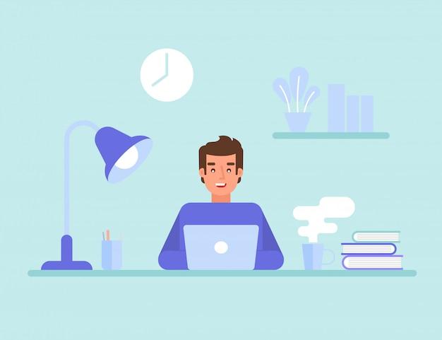Programmeur of webingenieur op het werk. programmeerwebsite voor programmeurs