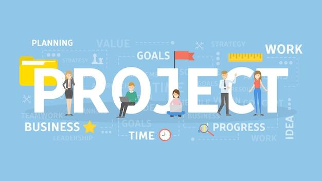 Project concept illustratie.