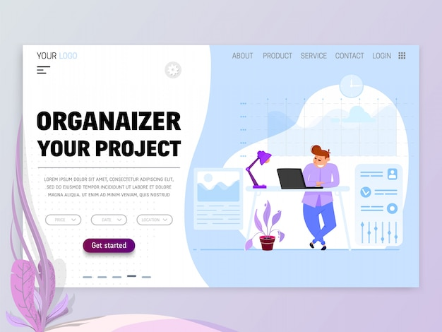 Project manager concept.