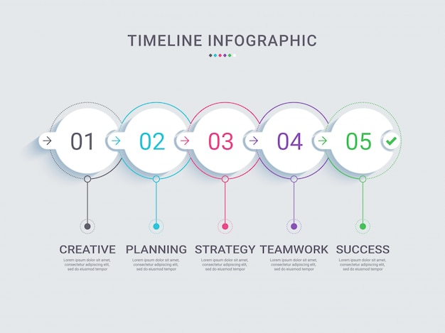 Project mijlpaal tijdlijn infographic sjabloon