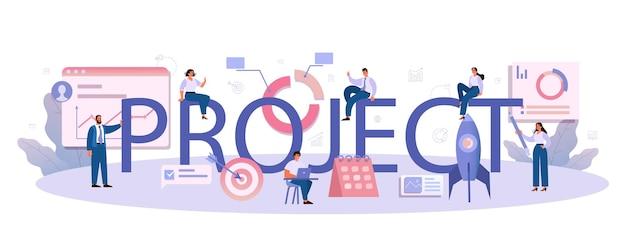 Project typografische koptekst illustratie