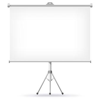 Projectiescherm illustratie