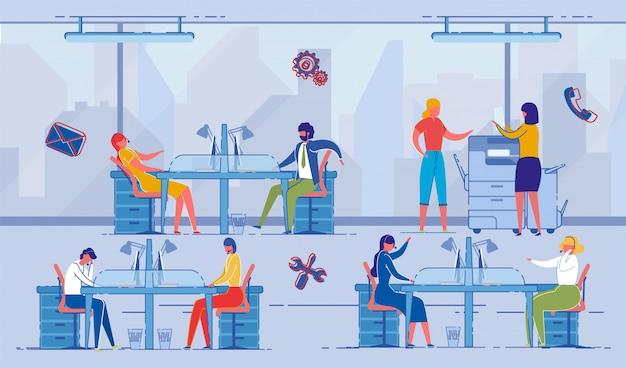 Projectmanagement, werkplek voor collega's.