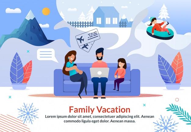 Promo-poster voor reisbureau aanbieding winter tours