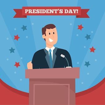 Promo voor het evenement op de dag van de president