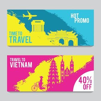Promotie banner voor reizen naar vietnam