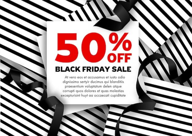 Promotie en verkoop op black friday, speciale kortingen en prijsverlagingen in de herfst