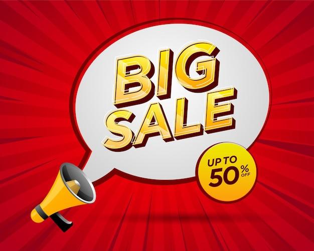 Promotie grote verkoop label sjabloon voor spandoek