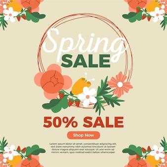 Promotie lente verkoop campagne concept