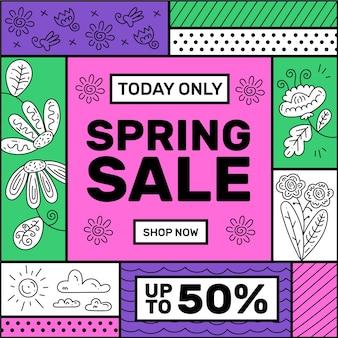Promotie lente verkoop ontwerp