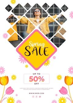 Promotie lente verkoop sjabloon folder thema