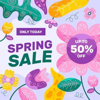 Promotie lente verkoop thema