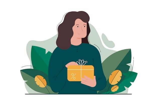 Promotie, marketing, reclame, cadeau, waardebon, vakantieconcept
