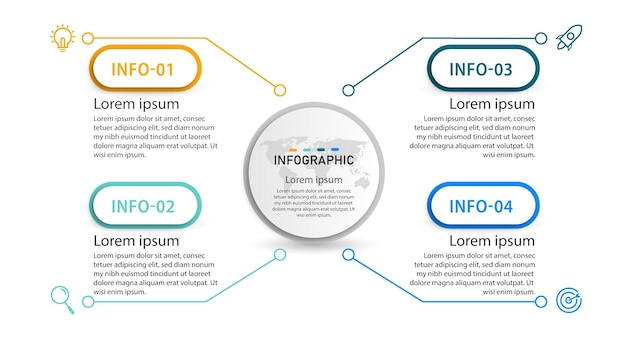 Promotie ontwerp diagram zakelijke infographic element sjabloon