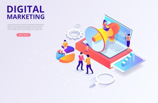 Promotie van digitale marketingonderzoek smm seo gericht op het genereren van inkomsten