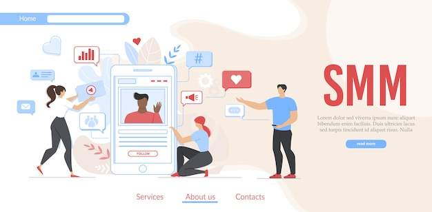 Promotie van smm-campagne en sociale media