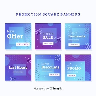 Promotie vierkante banner collectio