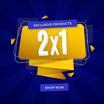 Promotie vierkante banner met shopping deal