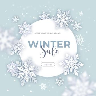 Promotie voor platte winterverkoop
