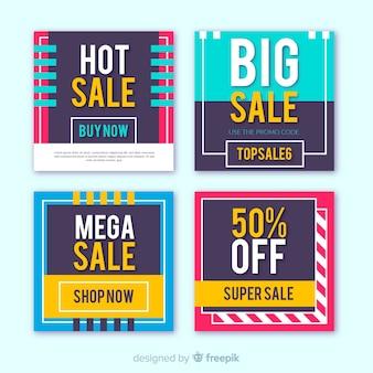 Promotiebanners voor verkoop voor sociale media