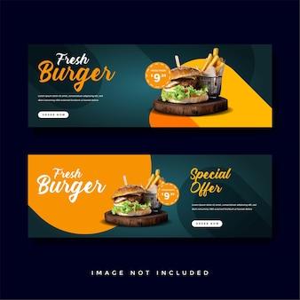 Promotiecollectie voor voedsel en culinaire banners