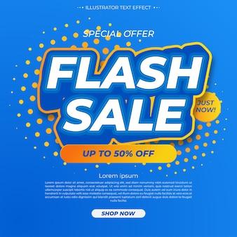 Promotiesjabloon voor flash-verkoop moderne banner Gratis Vector