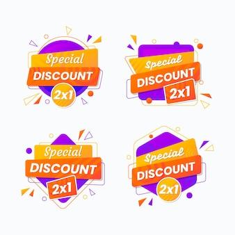 Promotionele labels met speciale aanbiedingen collectie