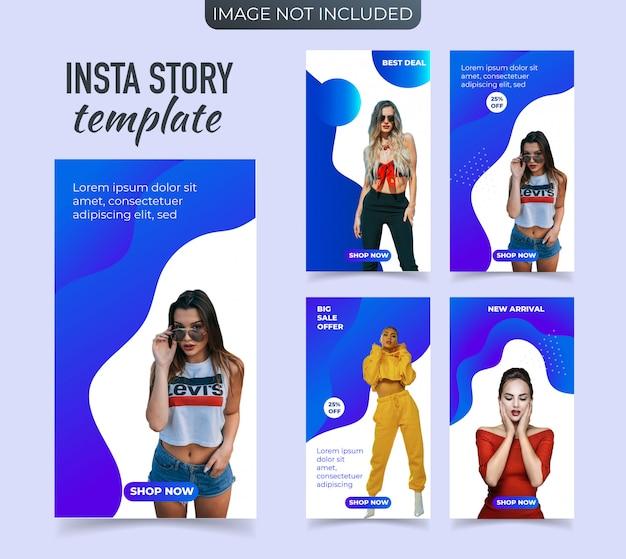 Promotionele mode-banner voor instagram-verhalen