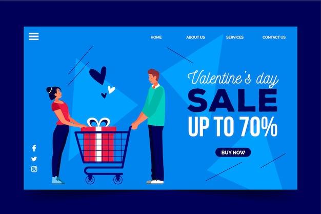 Promotionele verkoop op valentijnsdag