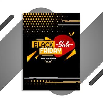Promotionele zwarte vrijdag verkoop flyer ontwerpsjabloon